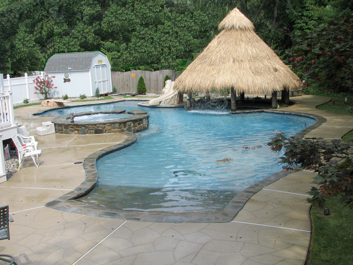 Beach Pool Construction : Different themes for your maryland pool