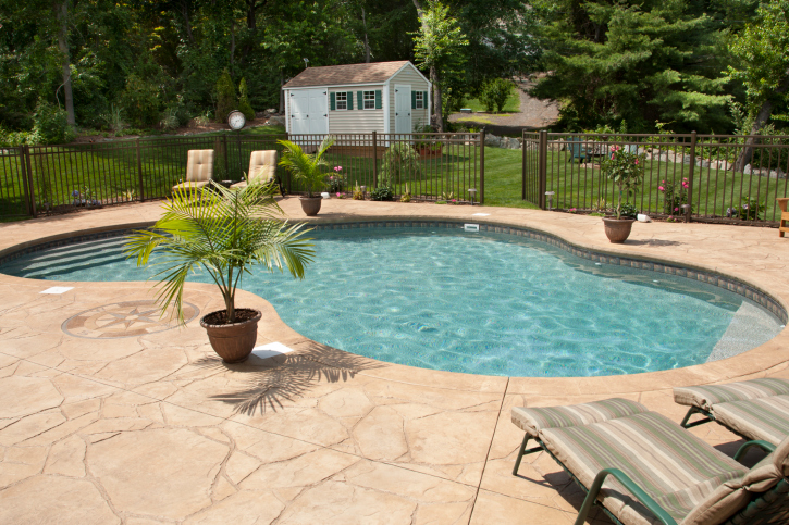 How To Choose The Right Pool Deck Material Sunrise Premiere Pool Builders Llc